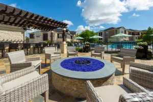 Apartments For Rent in Katy, TX - Outdoor Close Up of Fire Pit and Seating Area